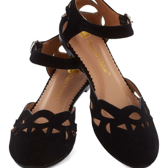 04046ca798 Modcloth Shoes | Black Velvet Flats | Poshmark